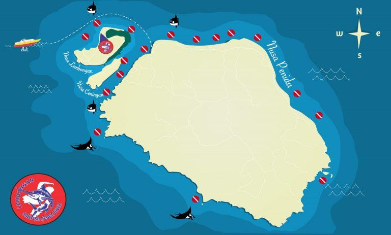 diving map design