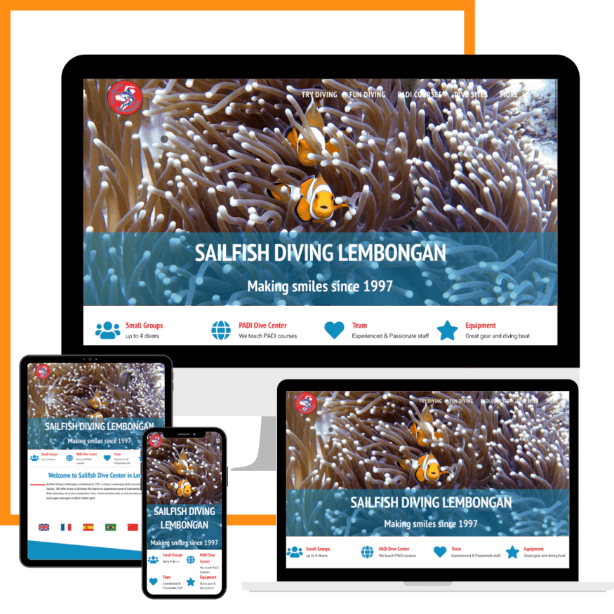 Web Design and Development for Diving Companies 2