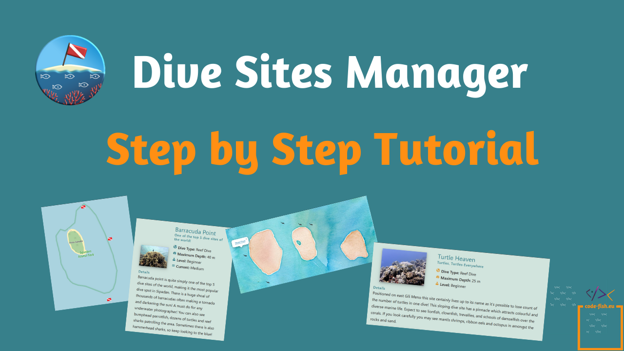 Dive Sites Manager Step by Step